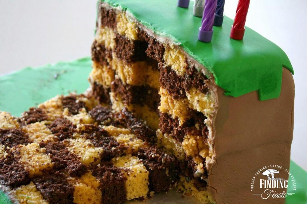 Checkered Minecraft Cake