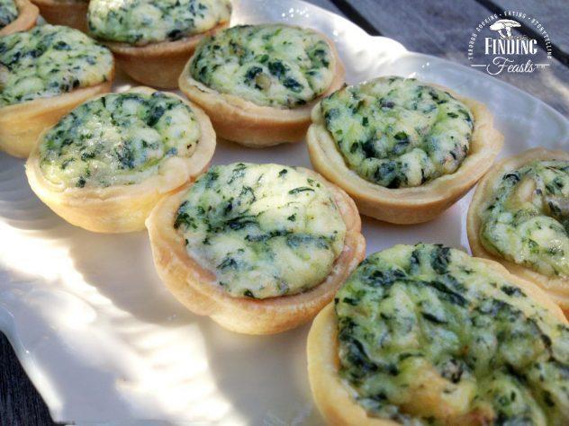 Mini Spinach and Ricotta Tarts