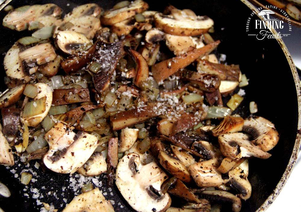 Finding Feasts - Pork Meatballs with Wild Mushroom Sauce