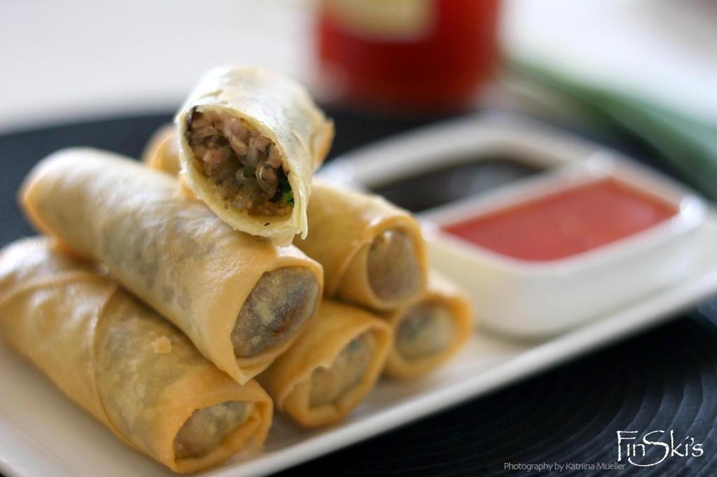 Shiitake and Pork Spring Rolls