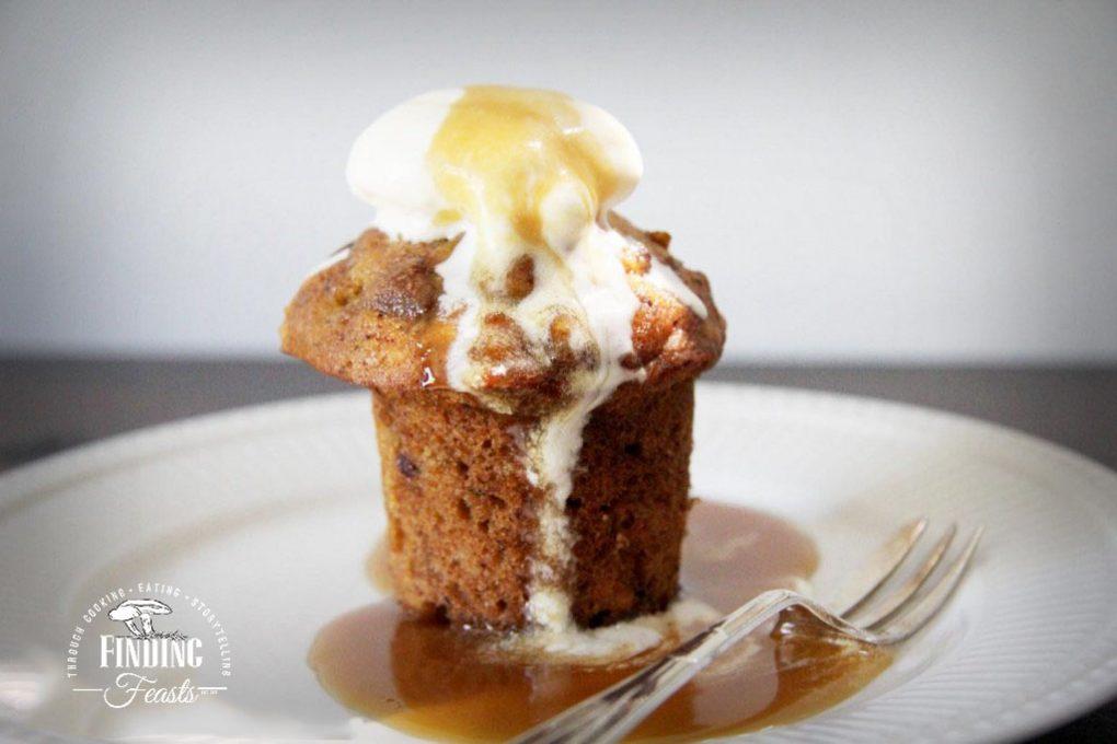Warm Sticky Date Pudding w/ Butterscotch sauce