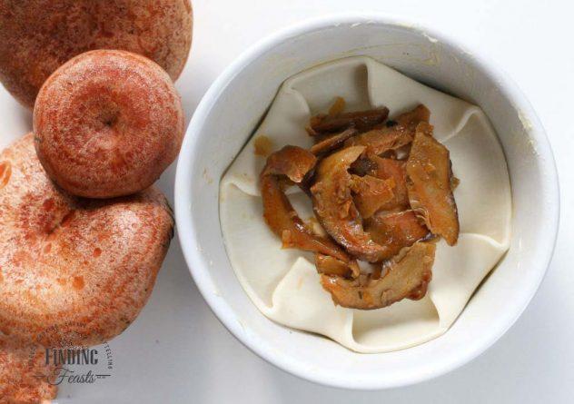 Wild Mushroom Tarte Tatin with Taleggio and Vino Cotto Drizzle