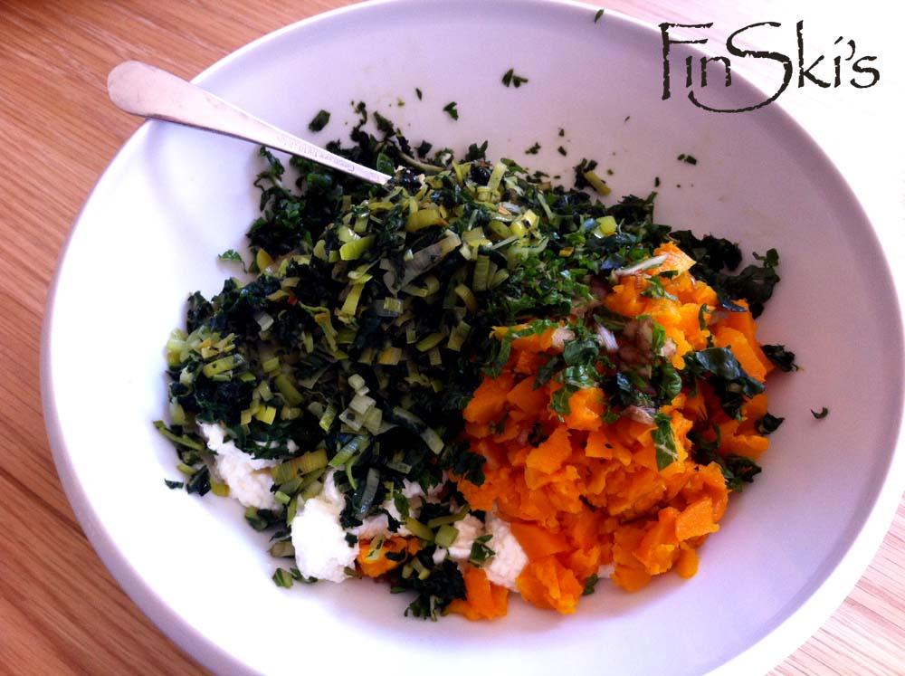 FinSki's Roasted Pumpkin Ricotta Parmesan & Spinach Rolls1