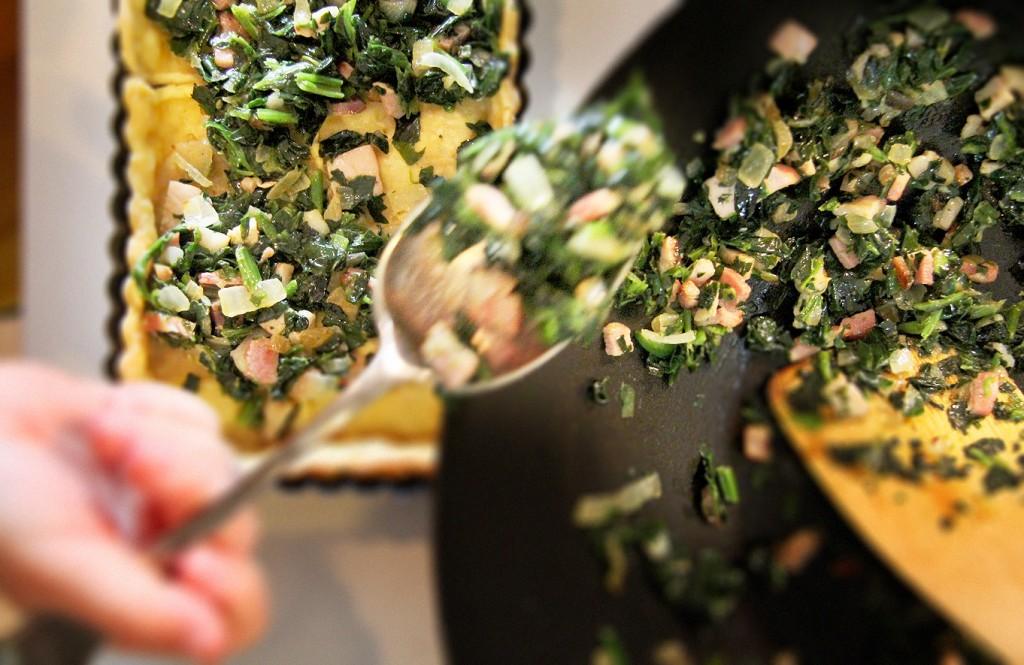 Spinach & Bacon Tart