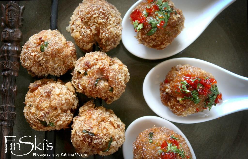 Thai Pork Meatballs w/ Sweet Chilli, Dill & Coriander Sauce