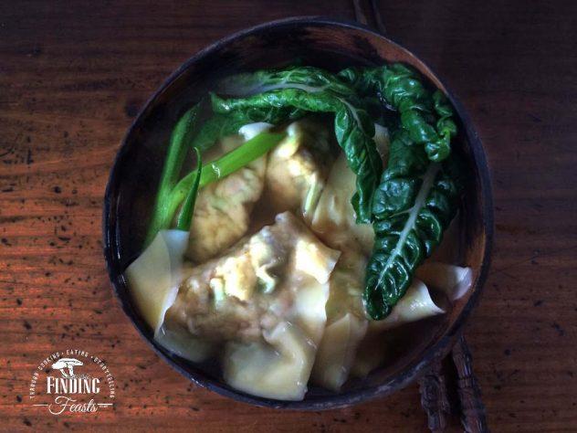 Chicken & Mushroom Wonton Soup