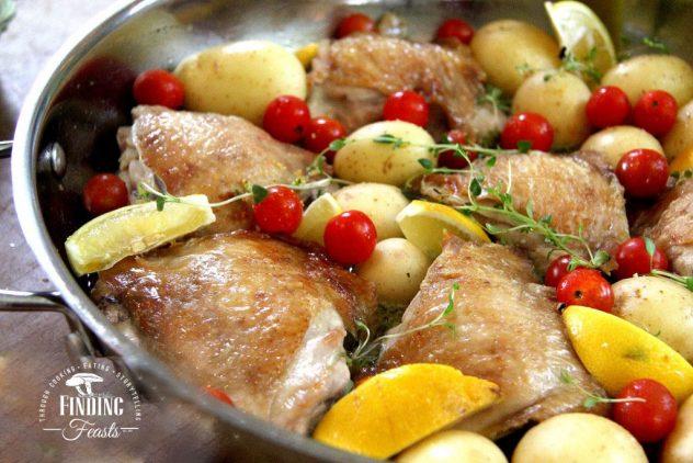 Lemon & Garlic Chicken w/  Chat Potatoes