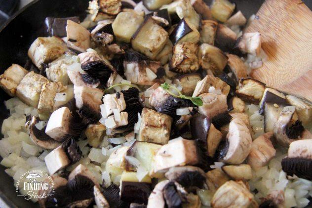 Chicken Eggplant & Mushroom Pie